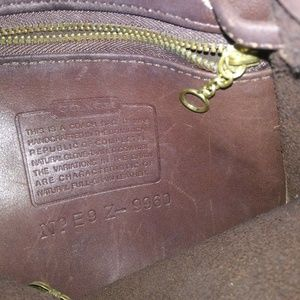 Coach Bags - Vintage COACH 9960 dark Brown Leather Backpack